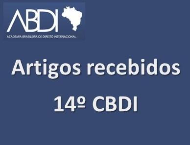 Relação Artigos Recebidos 14 CBDI